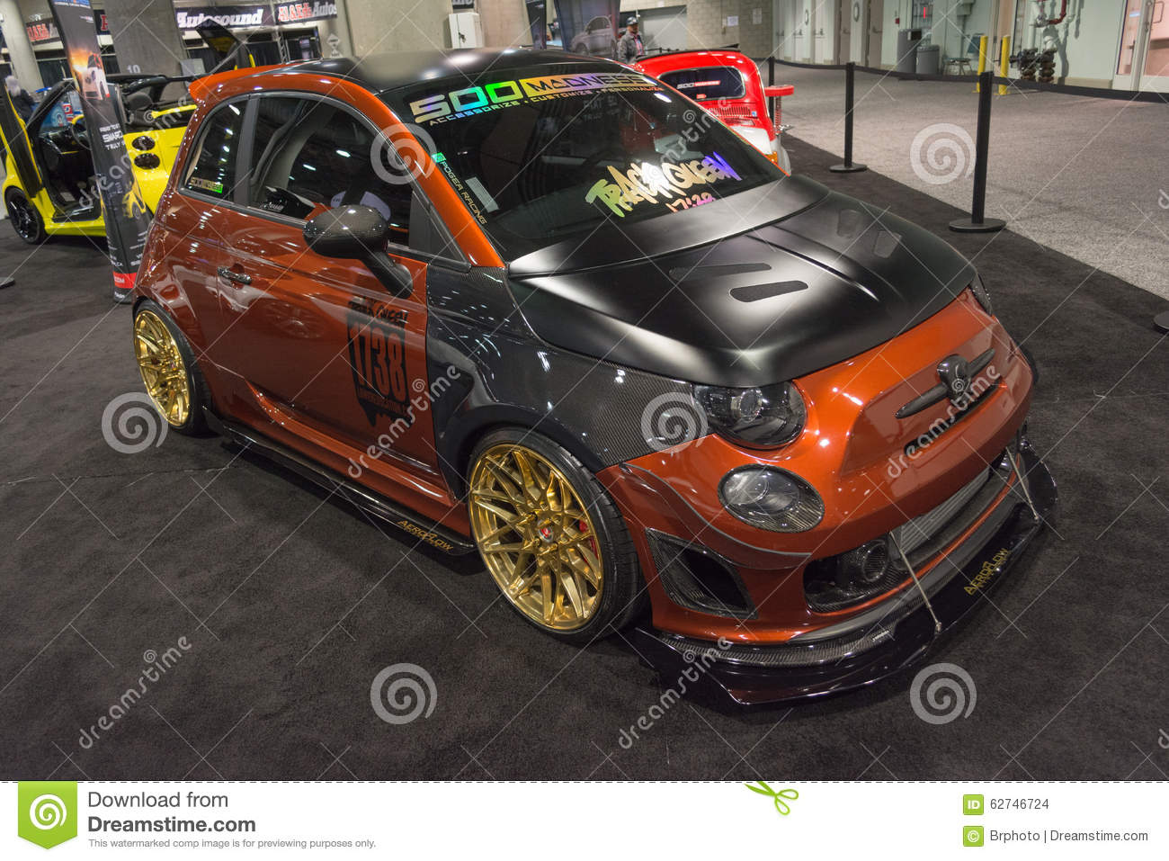 Fiat 500 Tuning On Display Editorial Stock Image Image Of Advanced