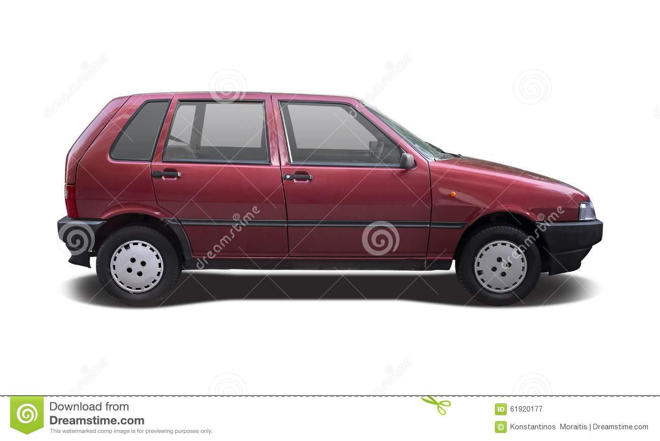 fiat uno car isolated on white stock image image of transport