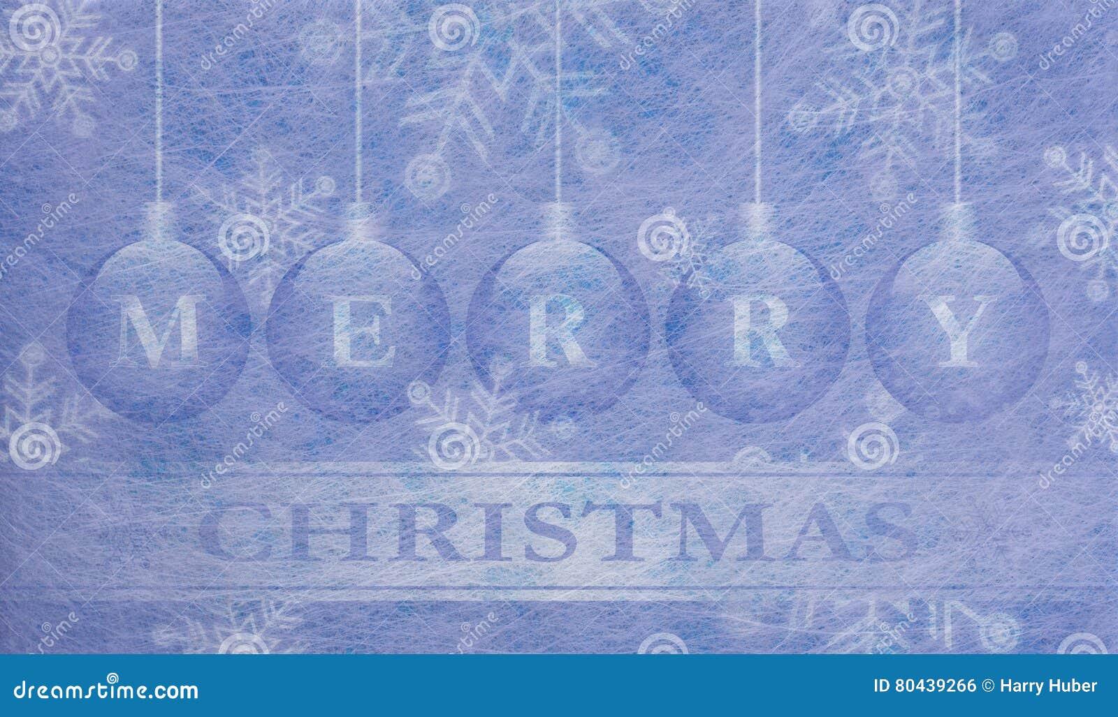 Fiber Fabric And Glitter Film And Christmas Balls Christmas Card