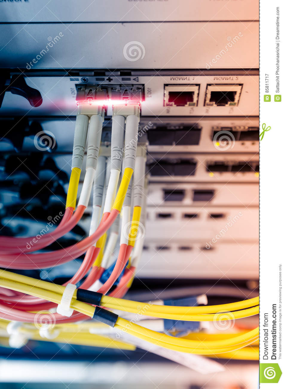 Wiring Ethernet Rack Diagram Schematics Network Cable Schematic Fiber Optic Connect To Switch Stock Image Of Rj45