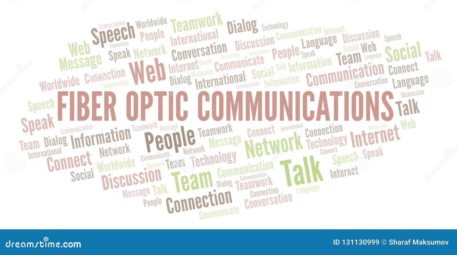 Fiber Optic Communications word cloud.