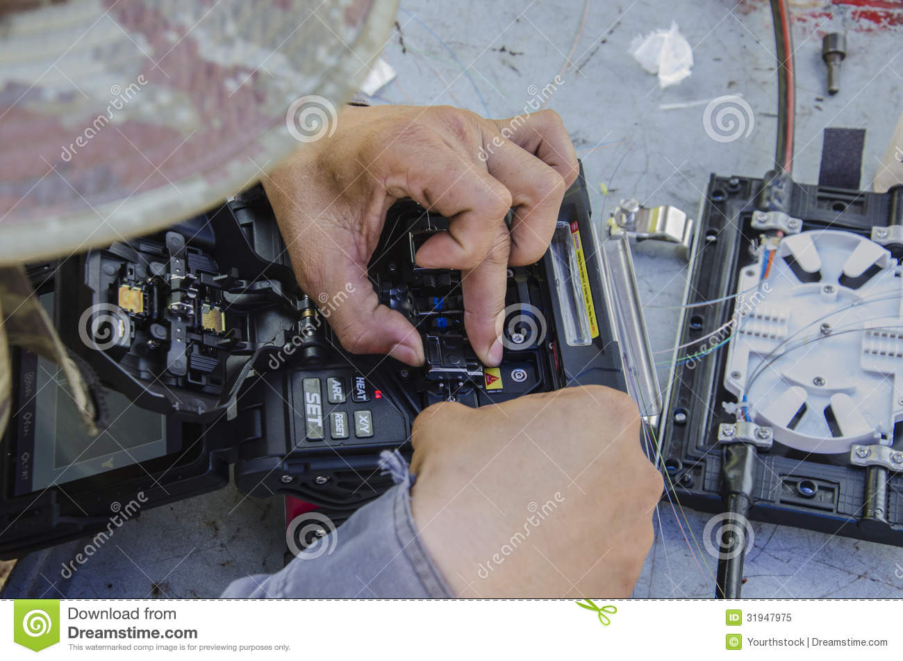 Fiber Optic Fusion Splicer Royalty Free Stock Photo - Image: 31947975