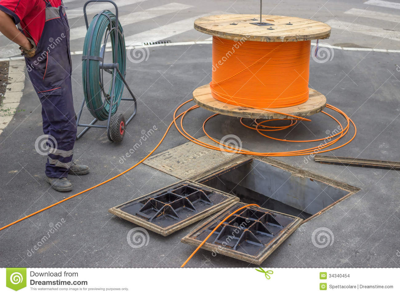 Fiber Optic Installation 2 Stock Images - Image: 34340454