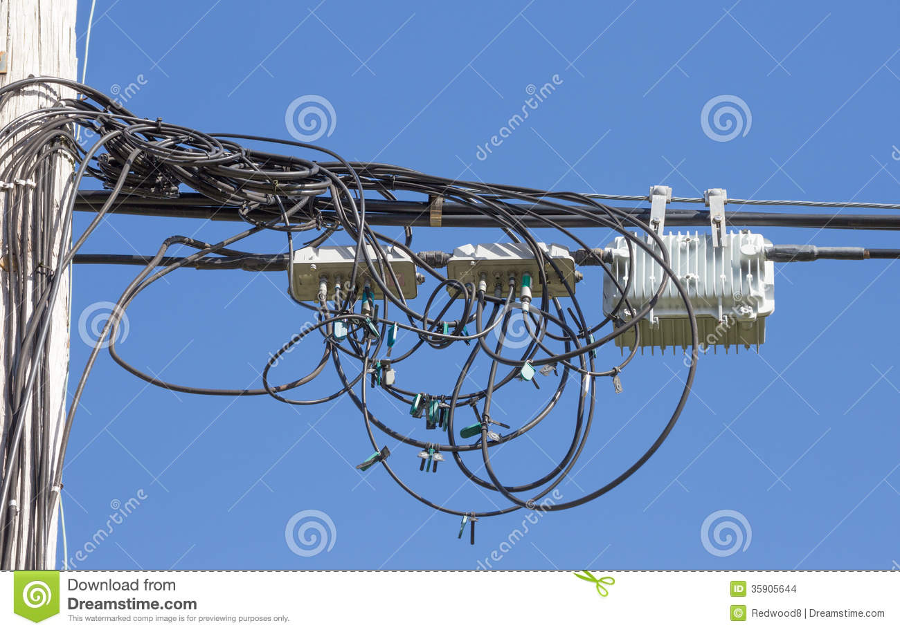 Fiber Optic Telecommunication Cables Stock Photo - Image of future ...