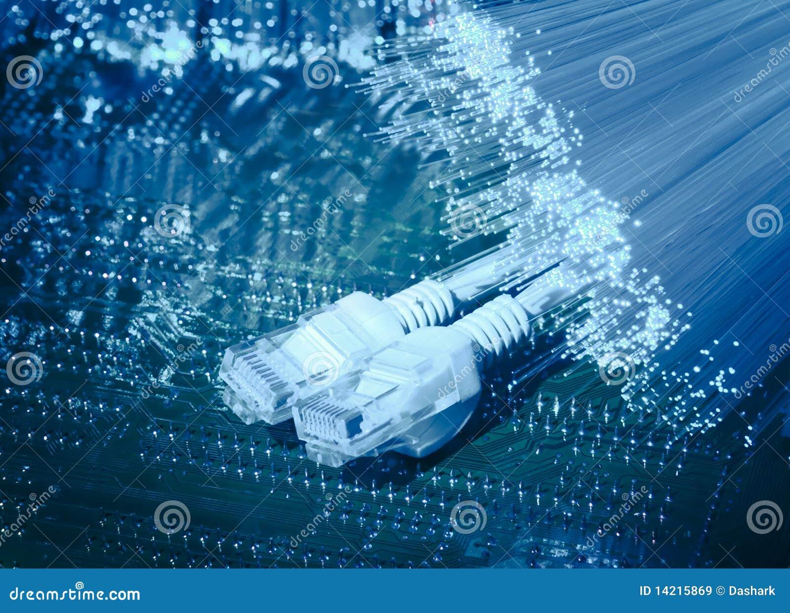 Fiber Optical Cable Background Stock Image Image 14215869