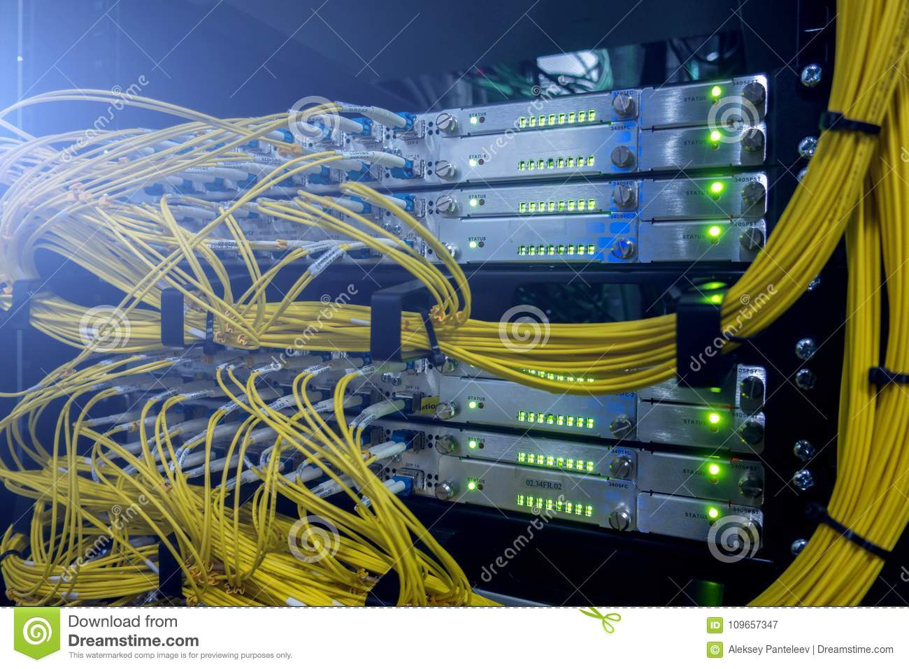 Telecommunication Optical Cables Stock Image Of Information Wiring Diagram Fiber Optic As Well Patch Panel