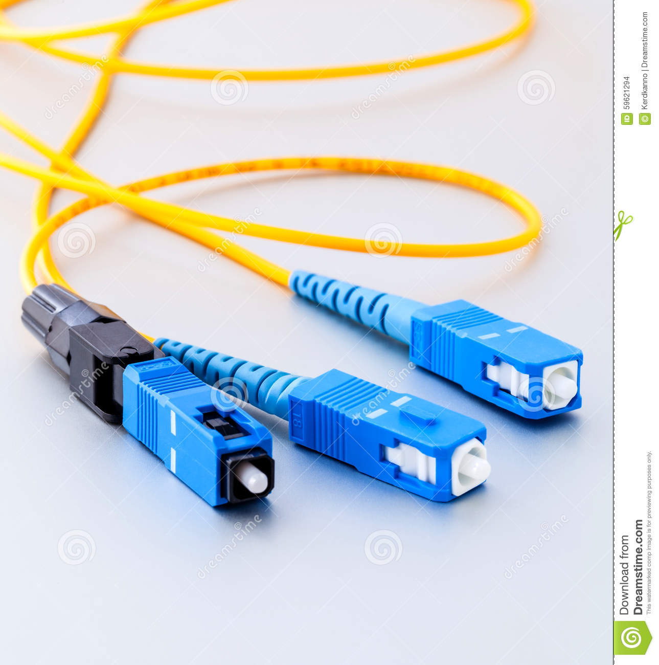 Fiber Optics Connectors Symbolic Photo For Fast Internet   Stock