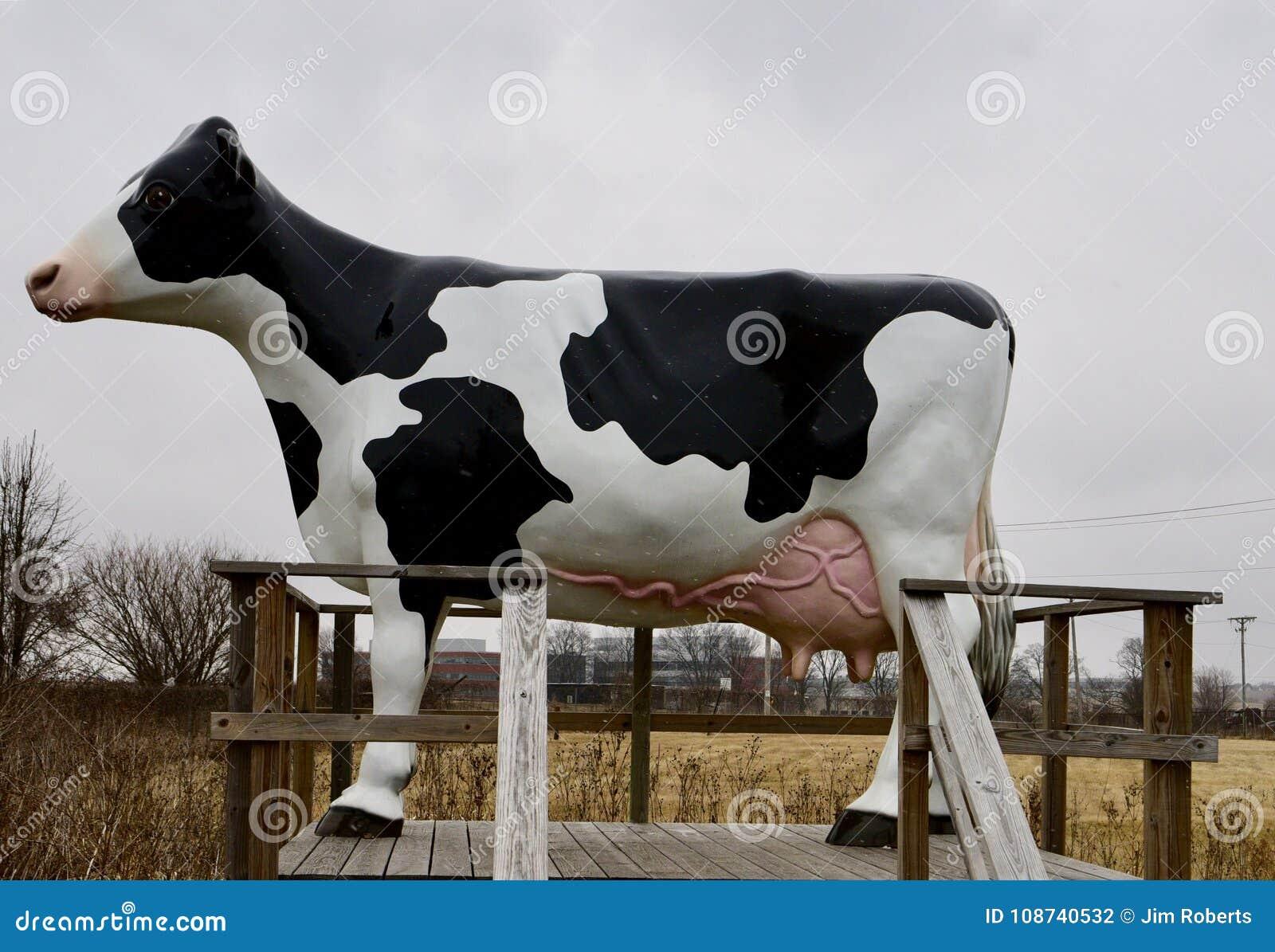 Fiberglass nabiału krowy rzeźba