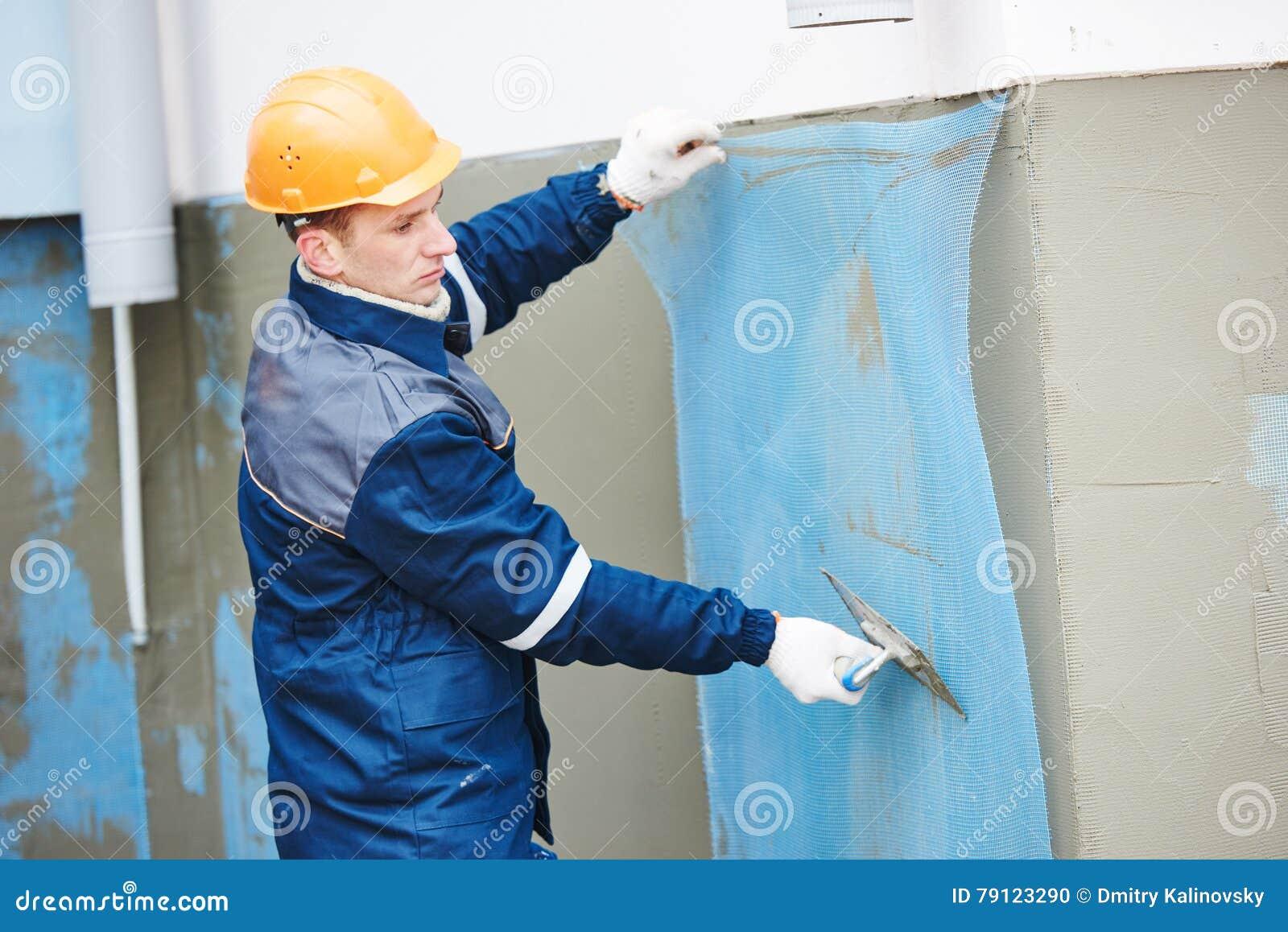 Fiberglass Reinforcing Plastering Mesh Used For Plaster Work Stock ...