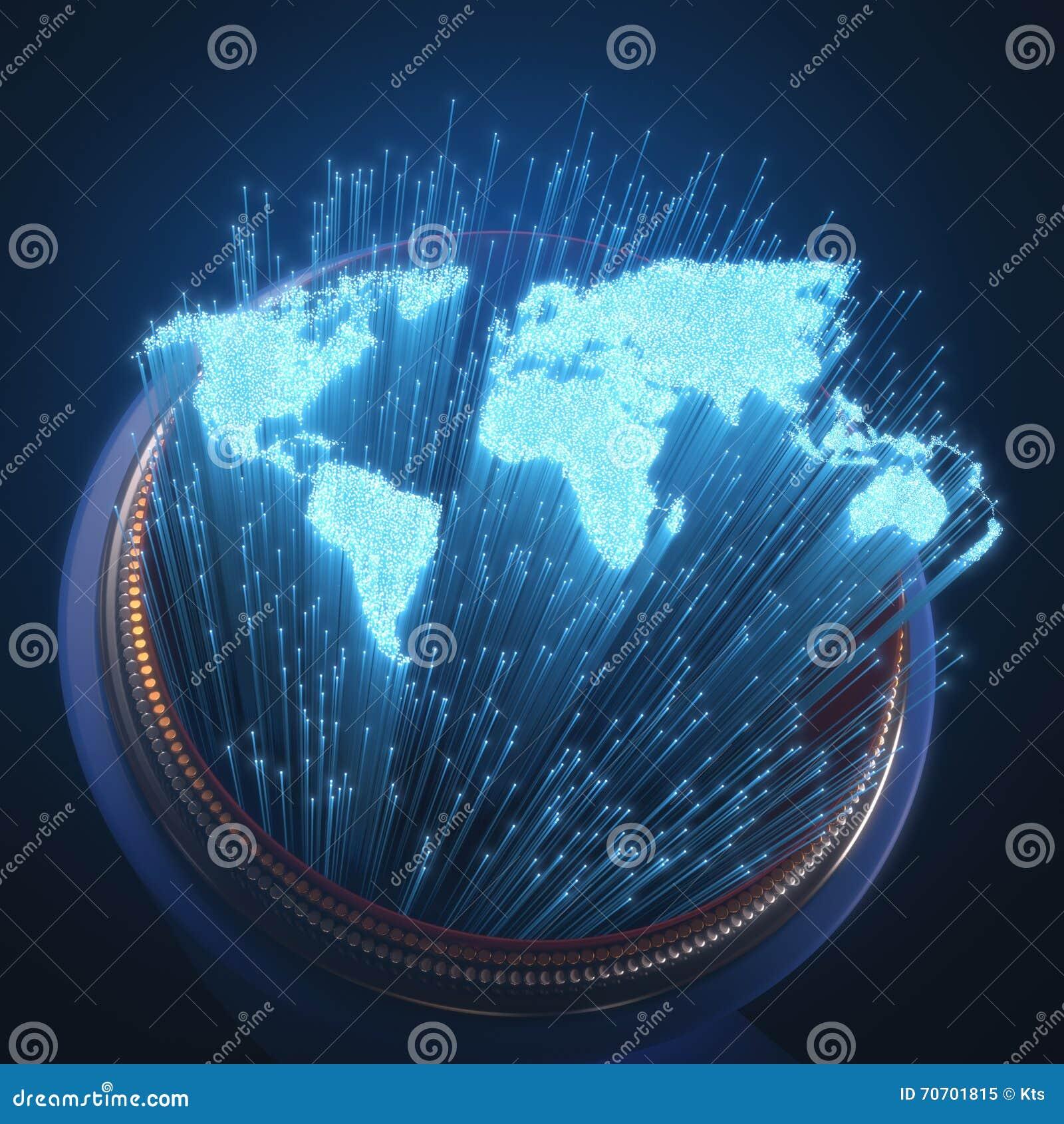 Fibra ottica del mondo