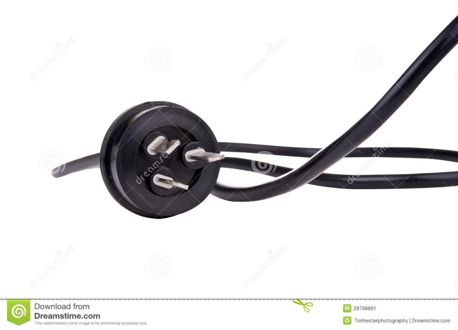 Fiche noire de cordon
