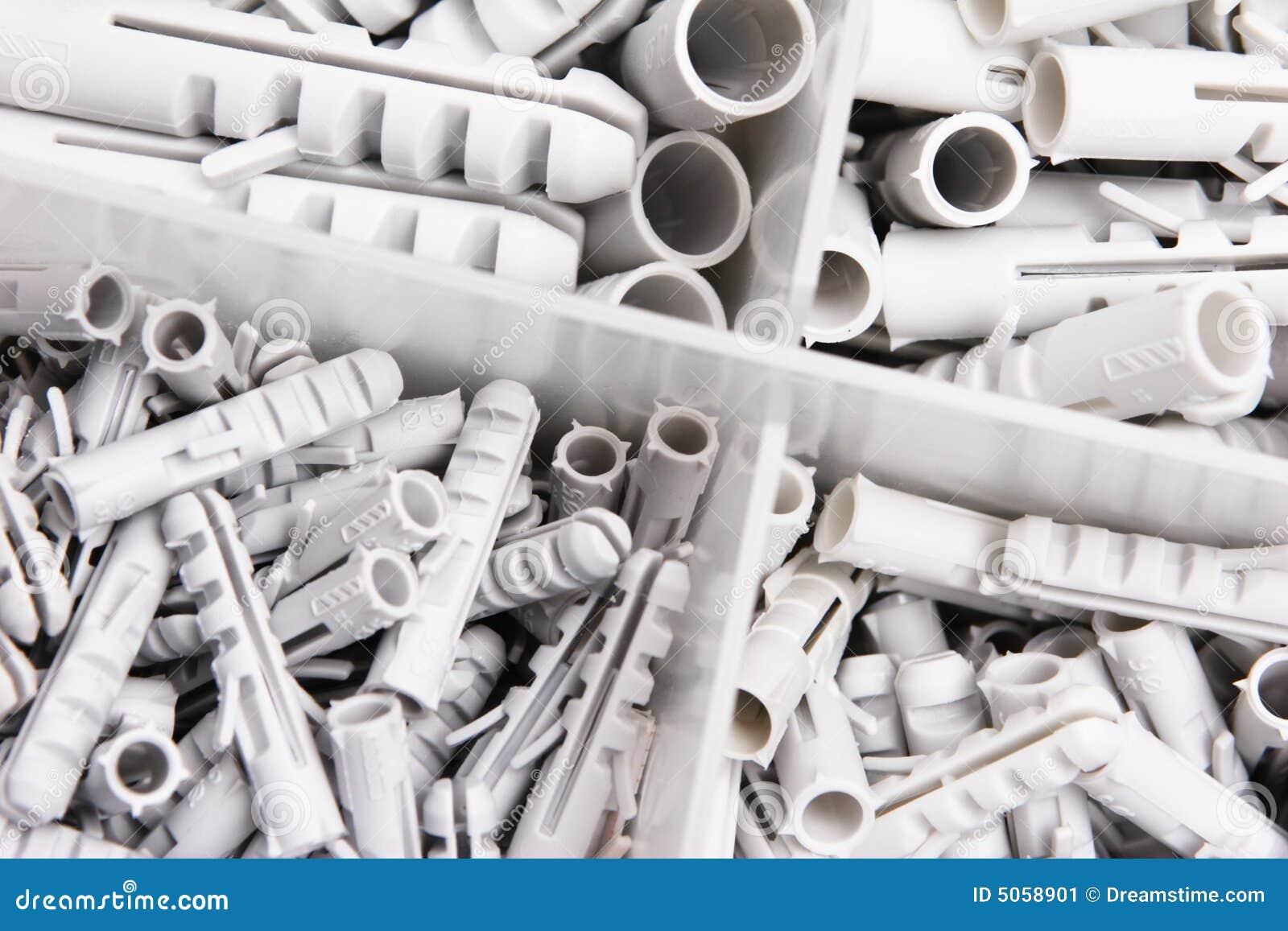 Fiches de mur en plastique