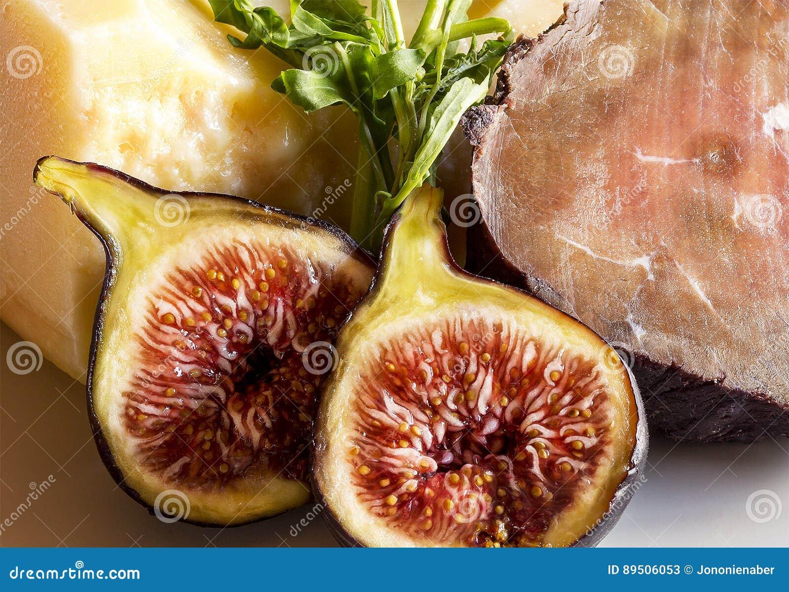 Fichi bresaola parmigiano immagine stock immagine di cuisine