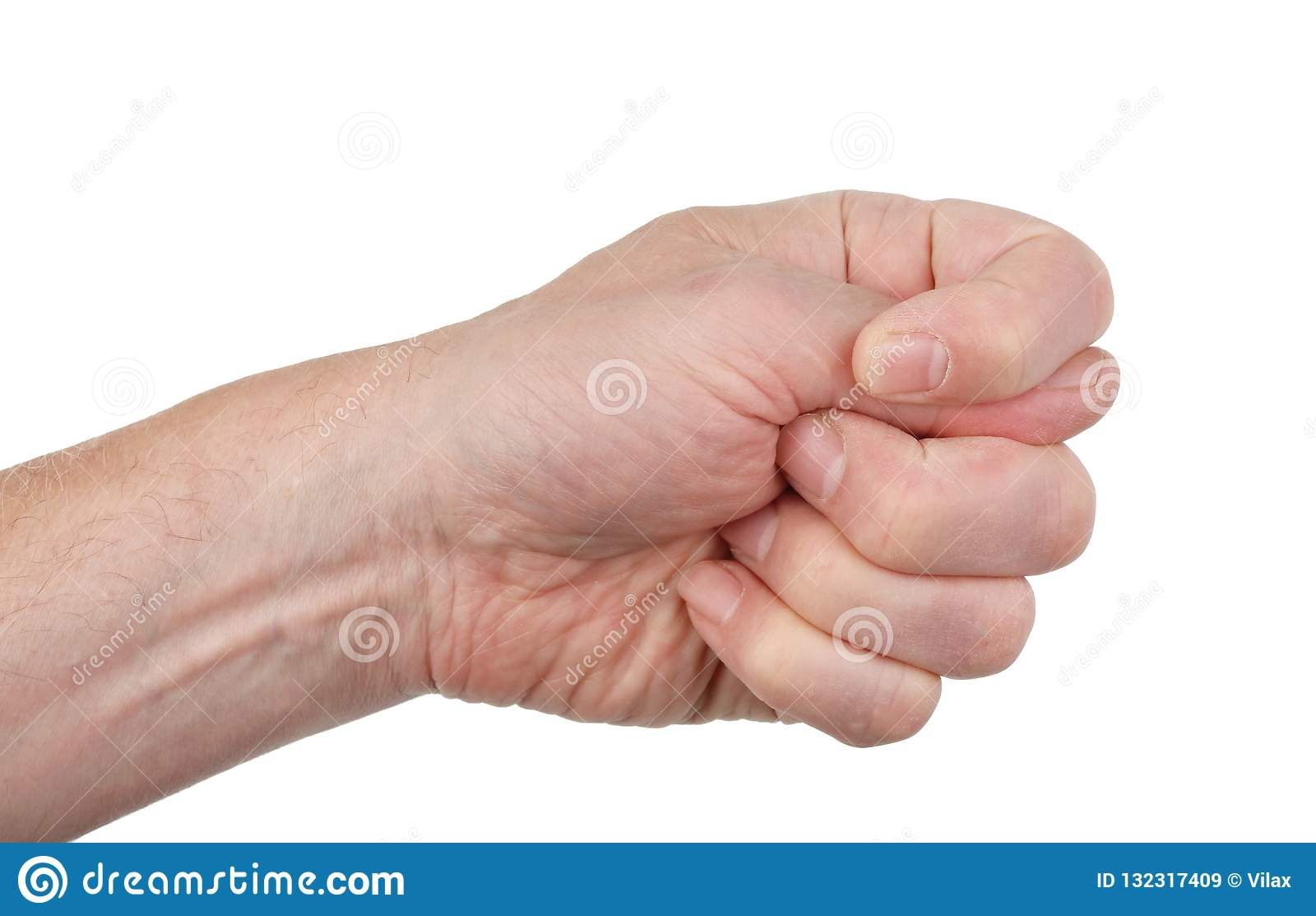 Fico teckennäve med en tumme, knipa mellan indexet och mitt