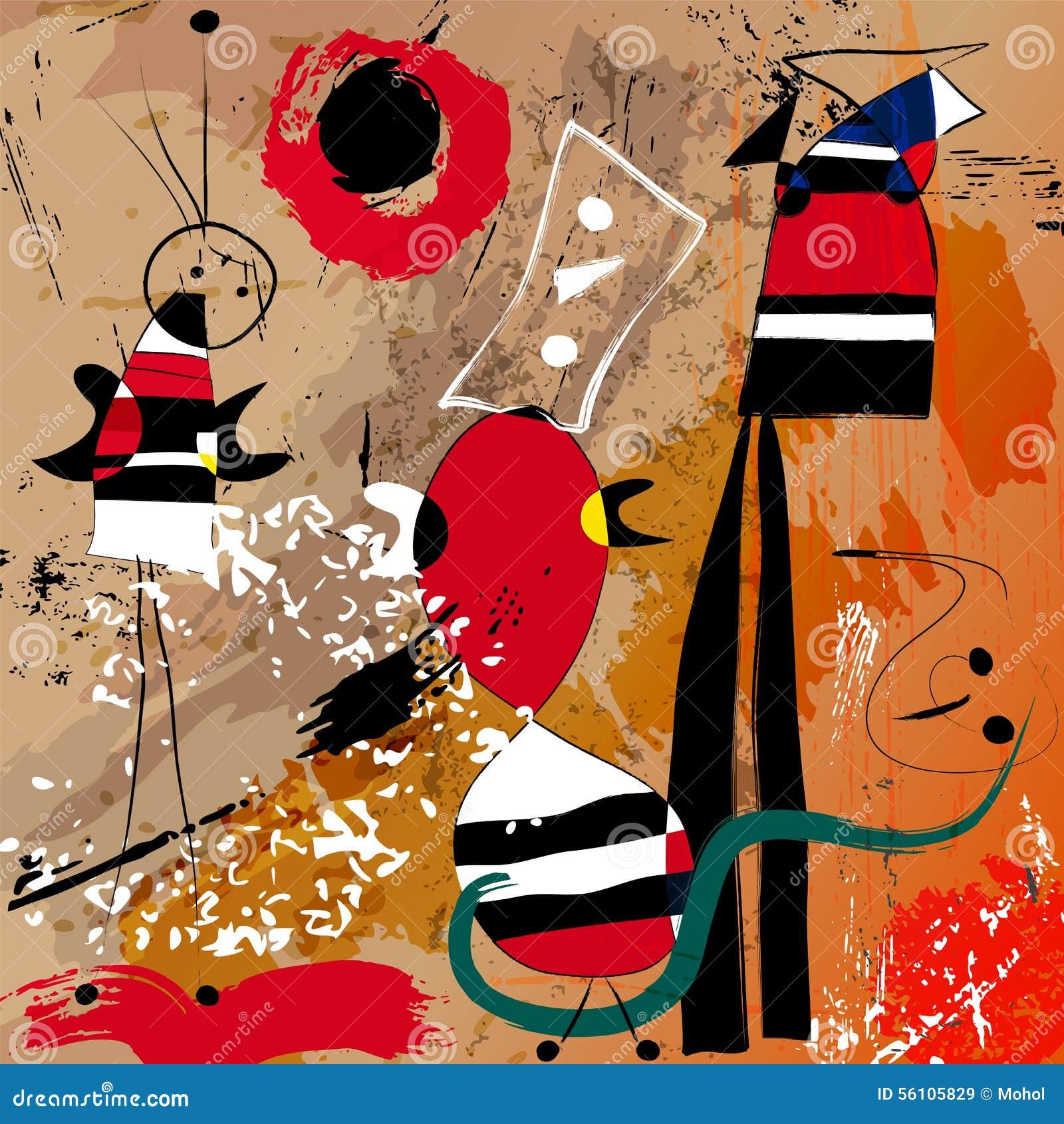 Fictional artwork modern art style