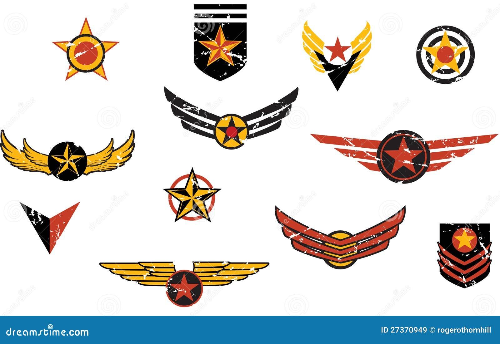Fictional military emblems stripes