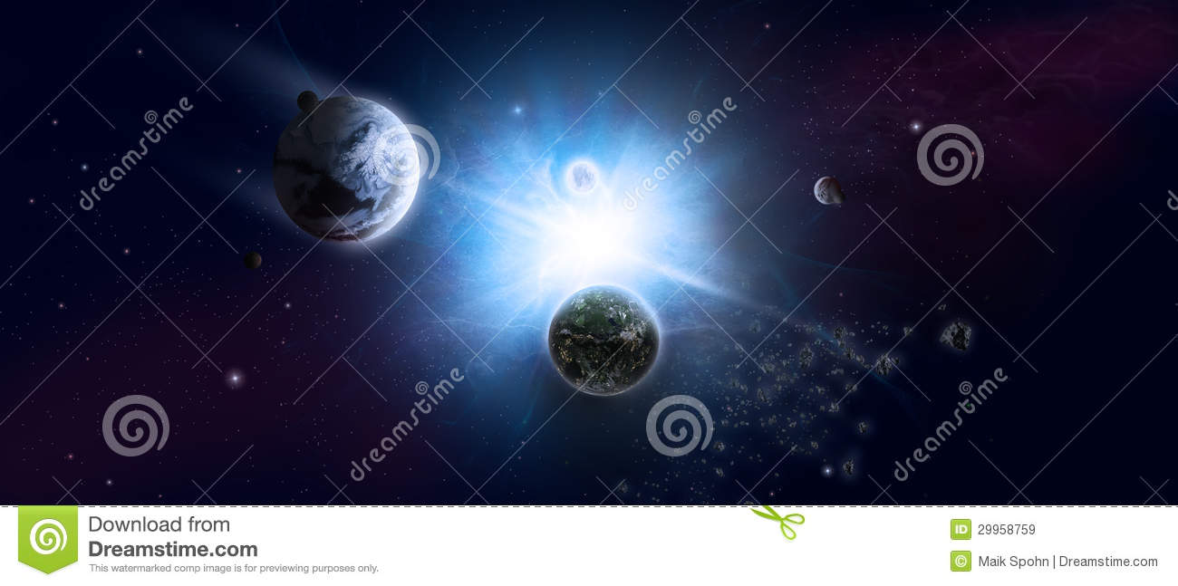 Universe and starfield