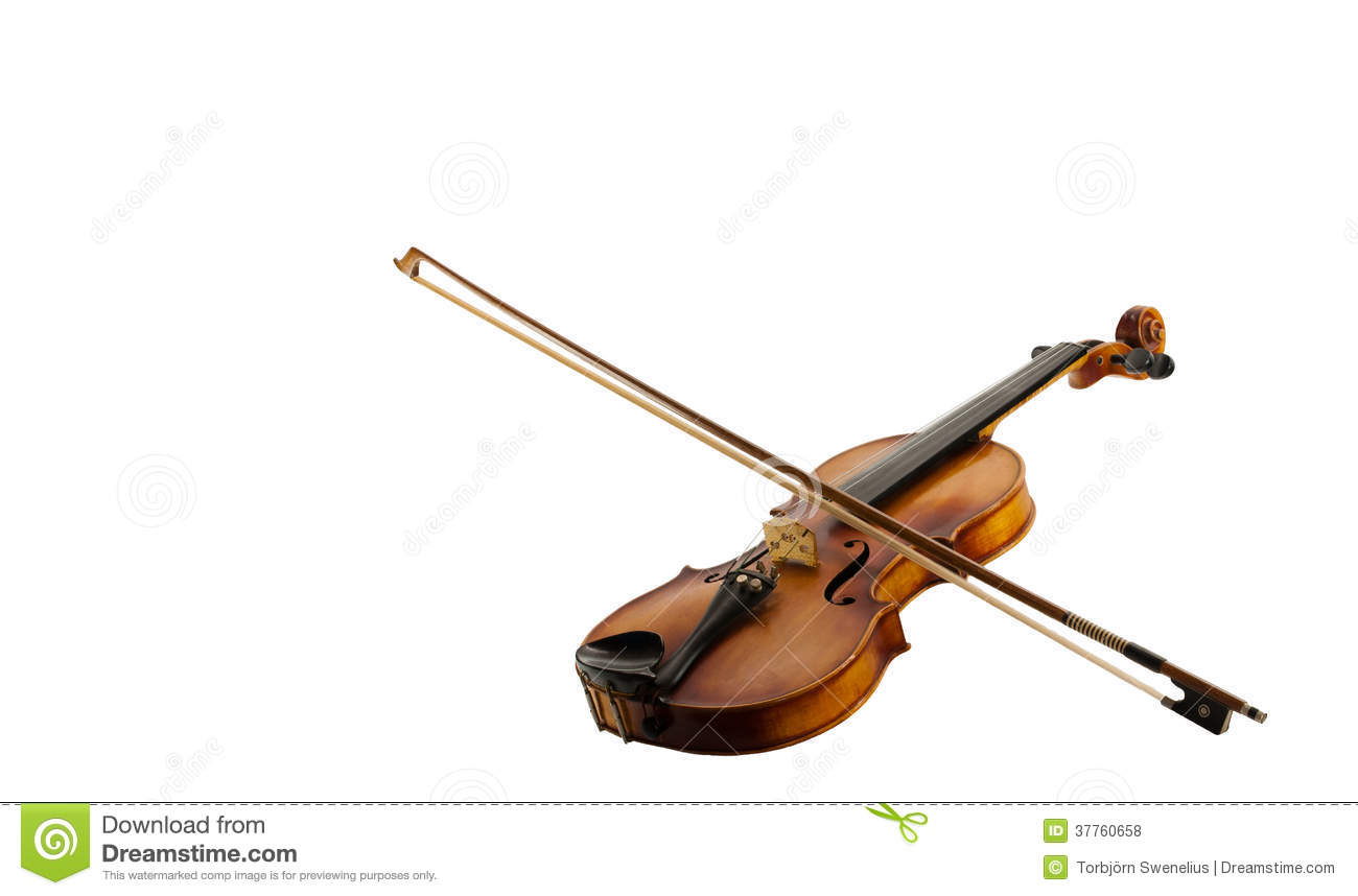fiddle and bow on white stock photo. image of fine, neck - 37760658