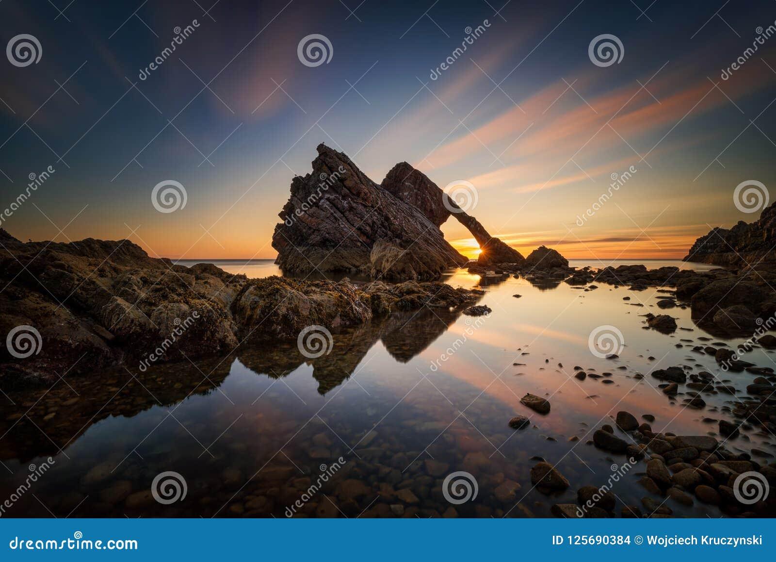 Fiddle Rock soluppgång