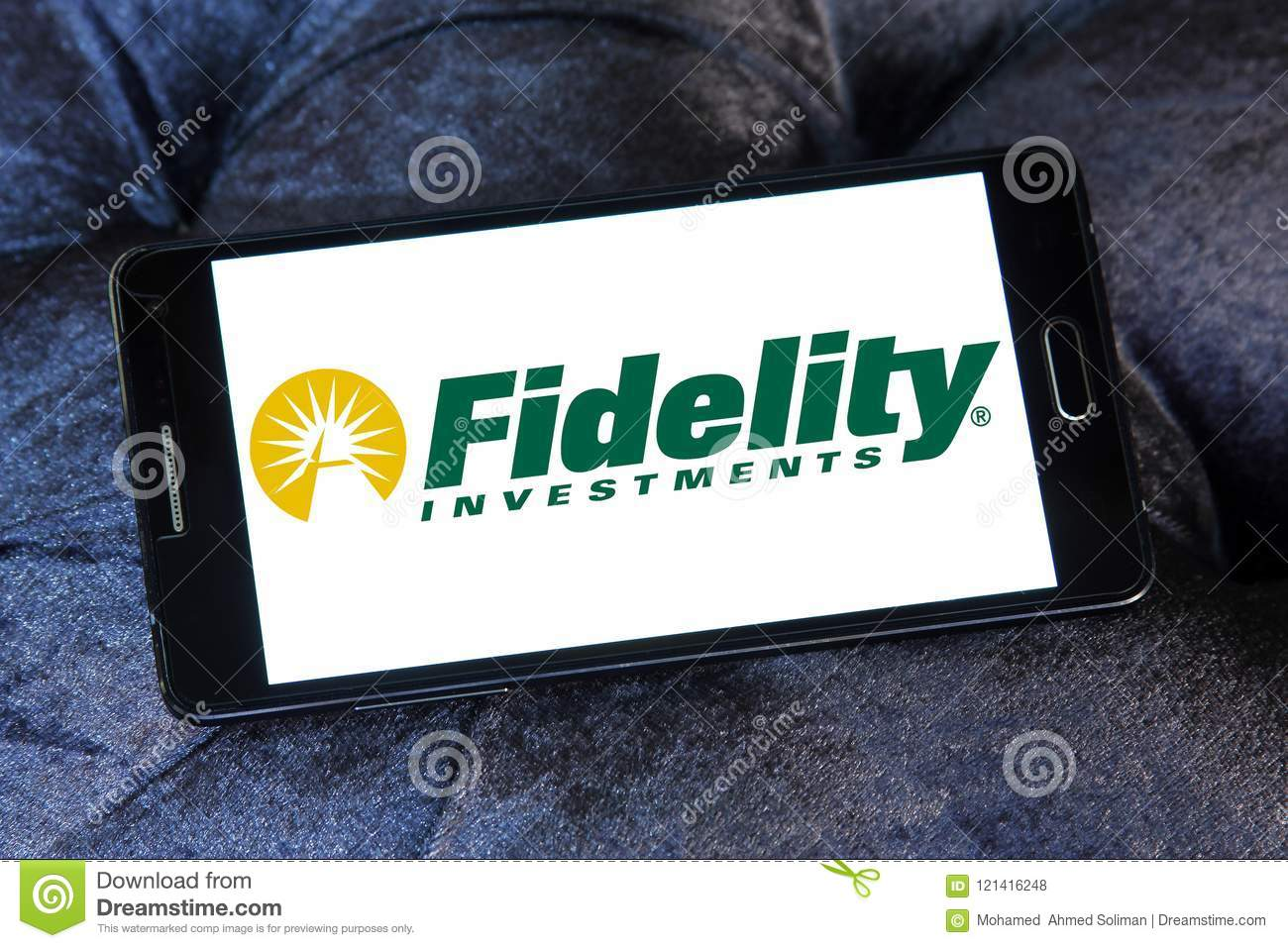 Fidelity Investments Company Logo Editorial Stock Photo