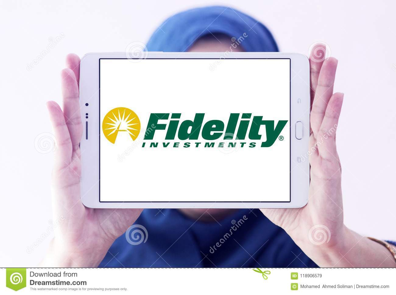 Fidelity Investments Company Logo Editorial Stock Image