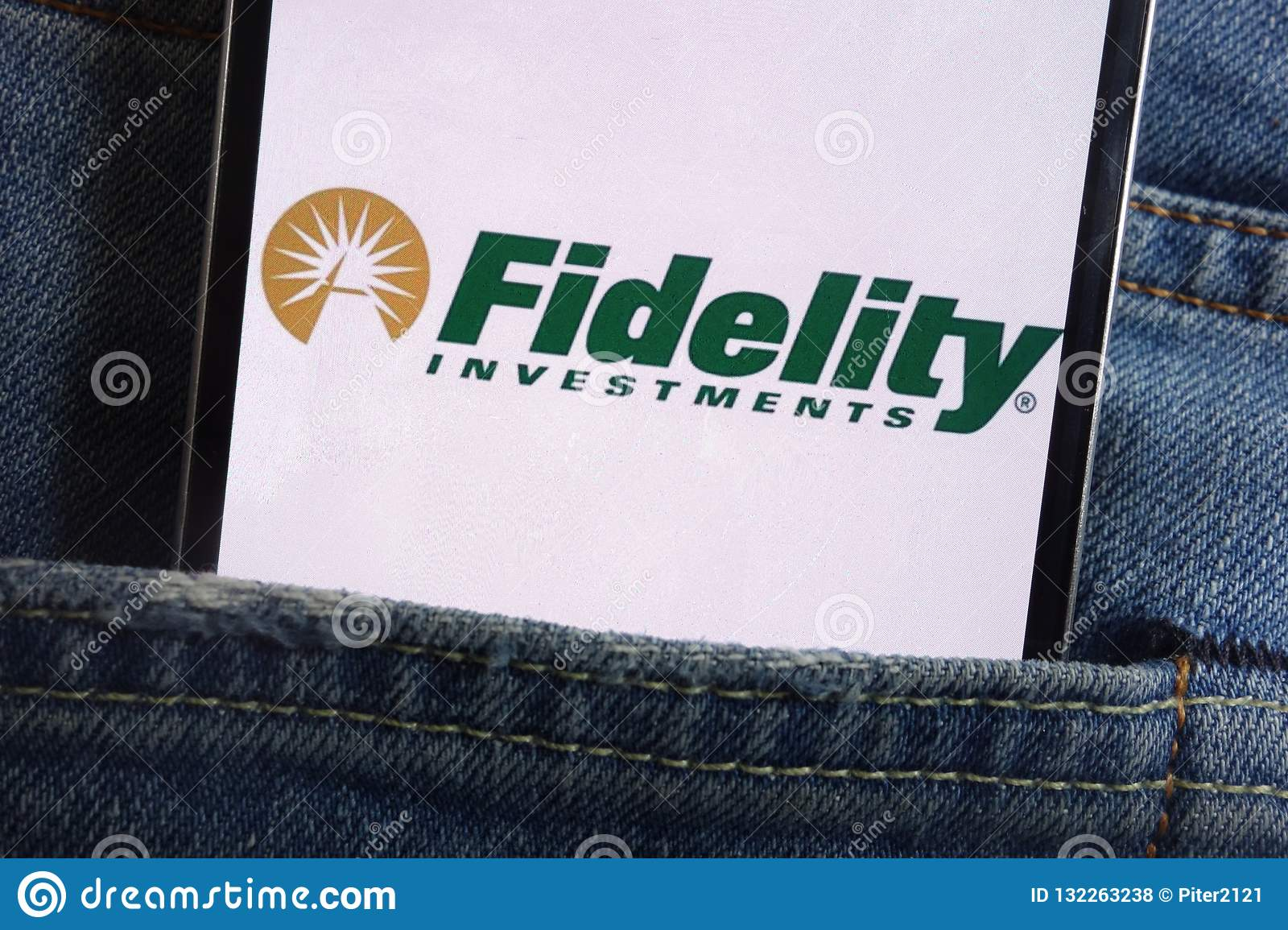 Fidelity Investments Logo Displayed On Smartphone Hidden In
