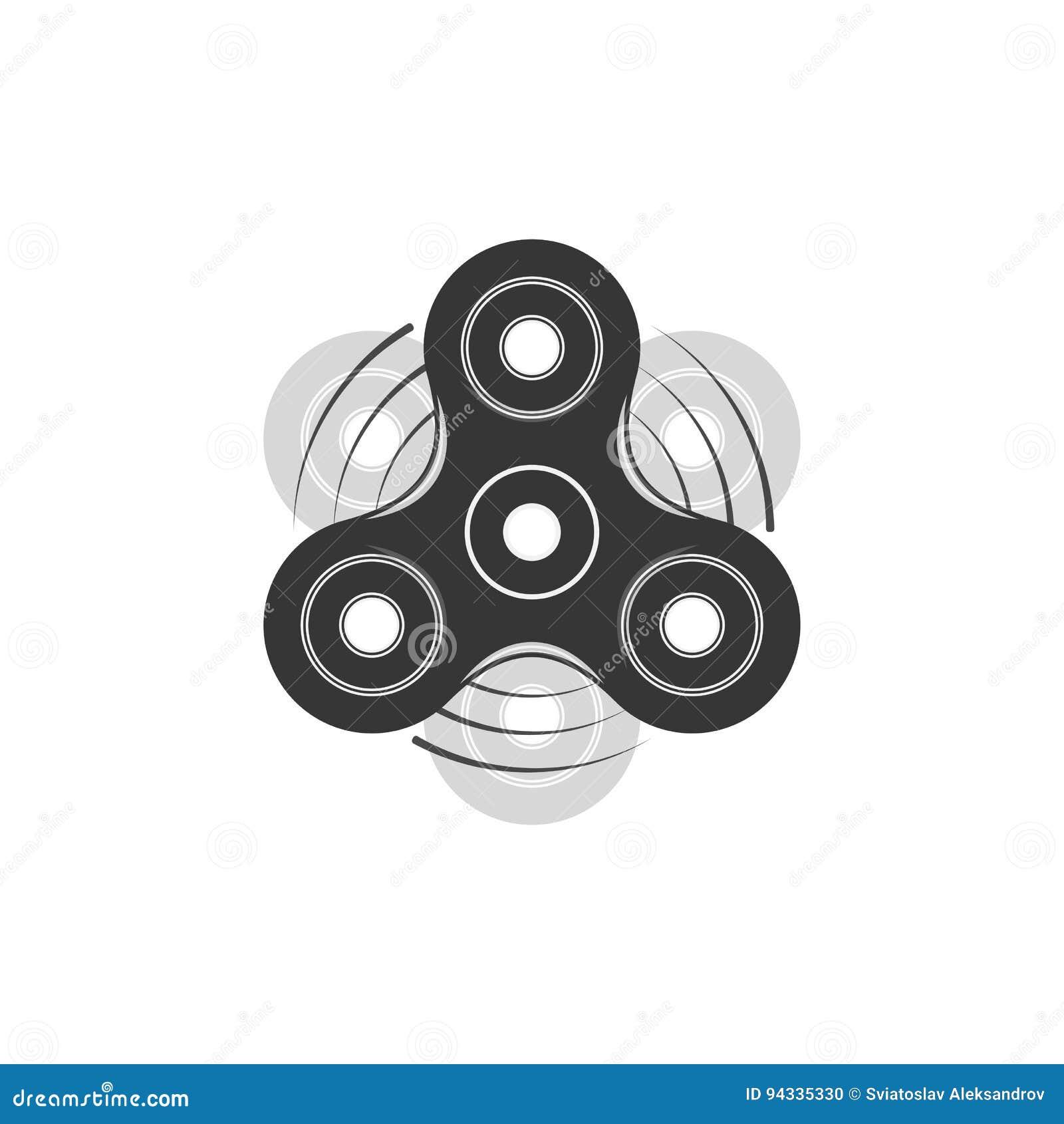 fidget spinner graphic element template stock vector illustration