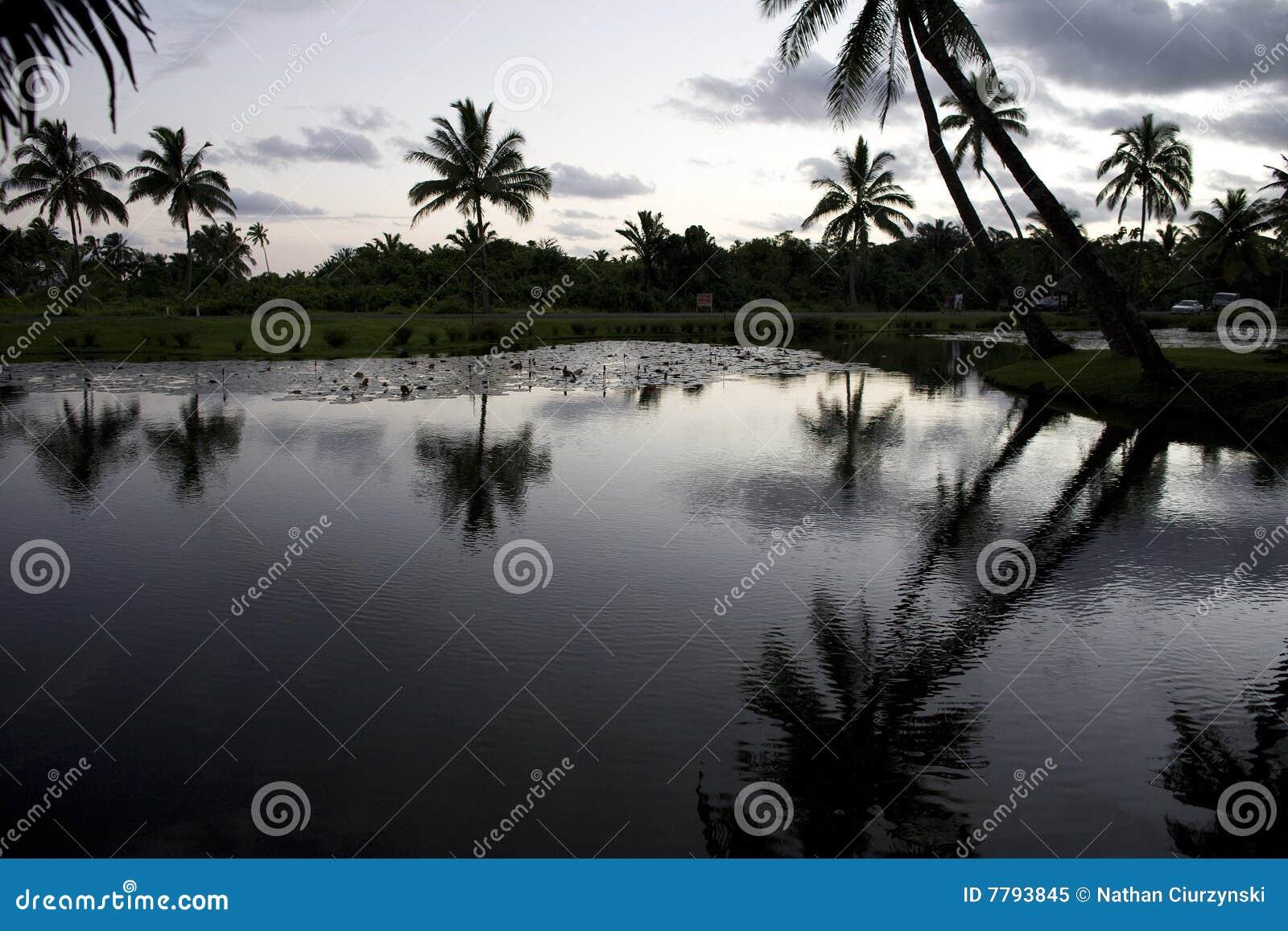 Fidschi-Sonnenuntergang