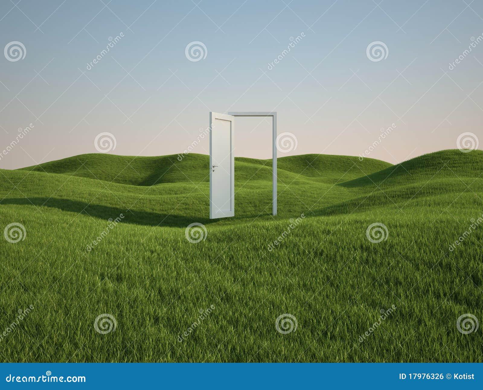 Field with door