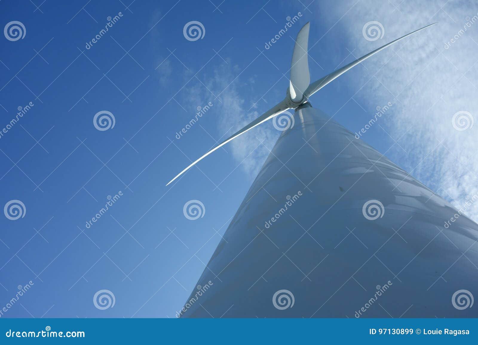 Field green turbines wind