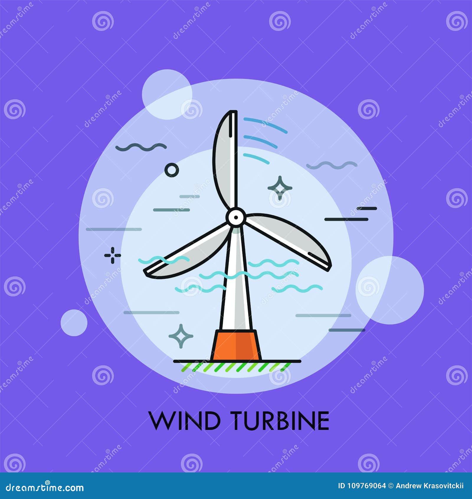 Field green turbines wind Begrepp av energi för utveckling för elektricitet som eller för elkraft grön eller förnybar hållbar, är