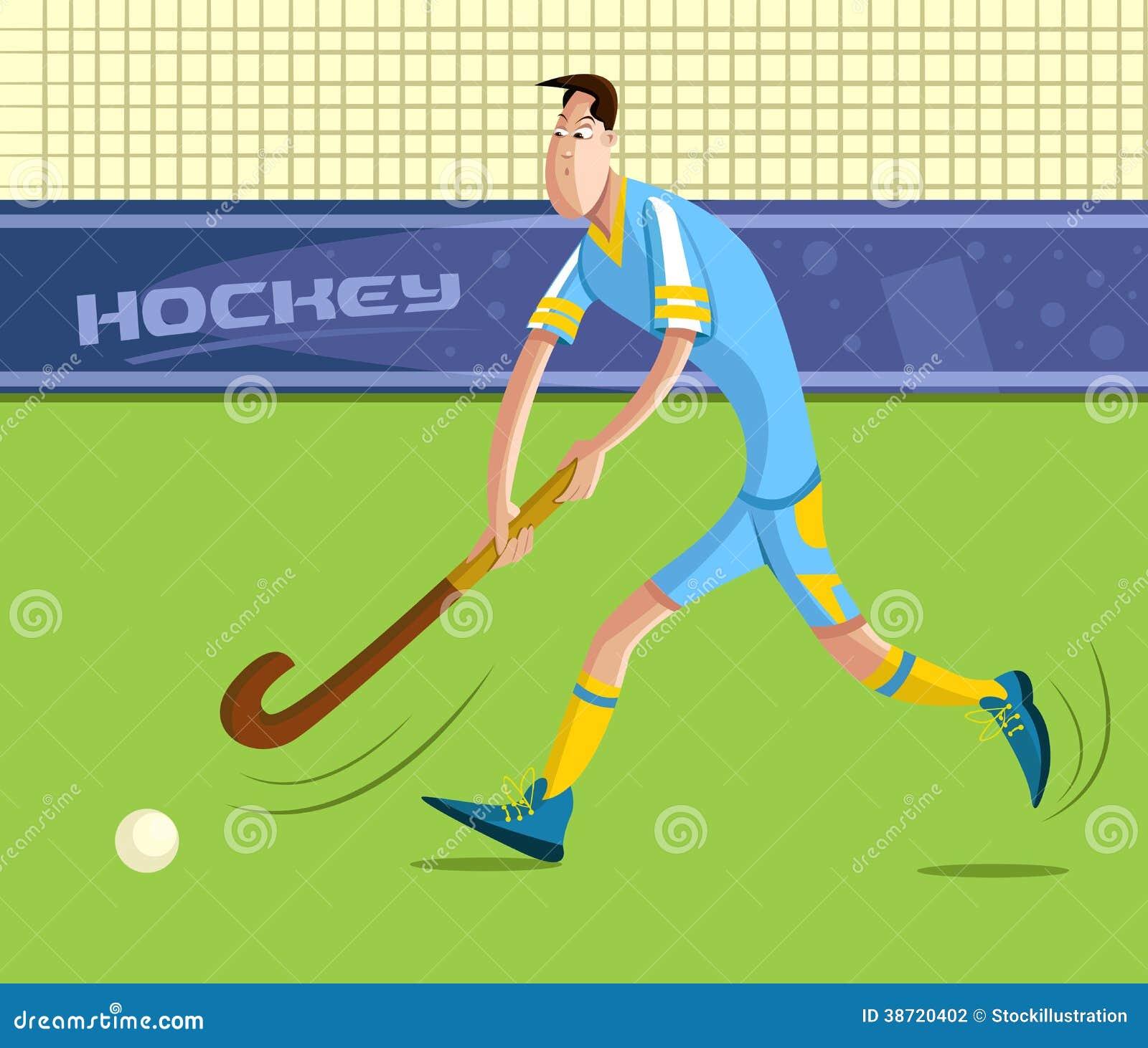 Field hockey player vector