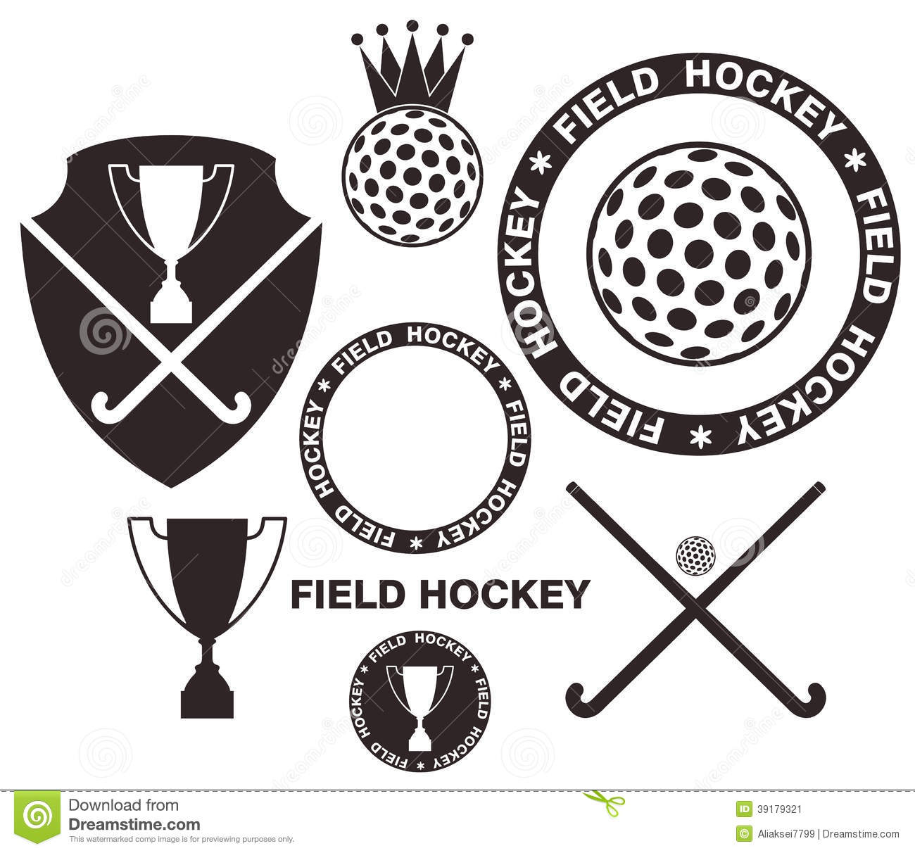 Field Hockey Stock Vector - Image: 39179321