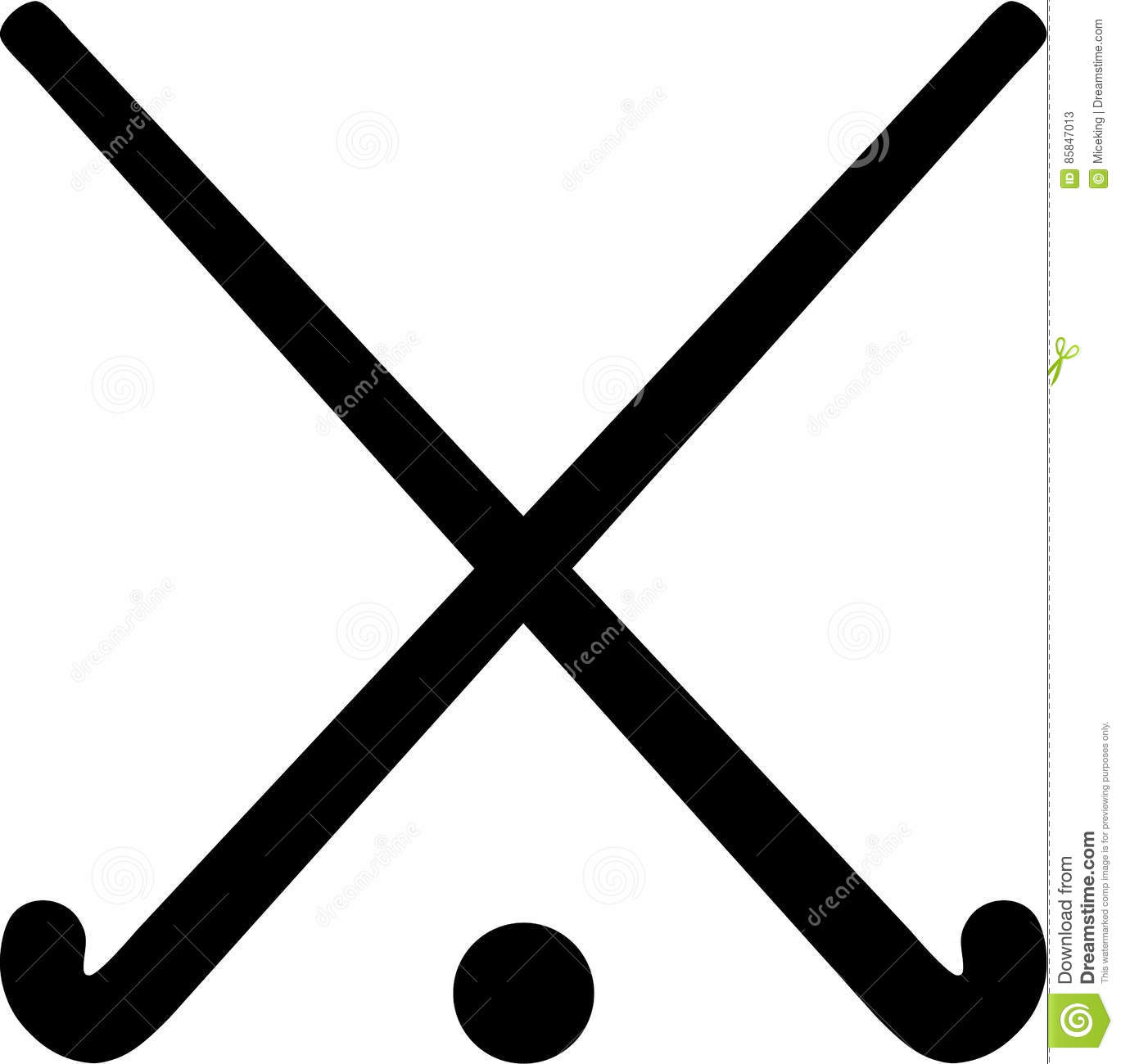 881b82a9c3b9 Field Hockey Sticks With Ball Stock Vector - Illustration of crossed ...