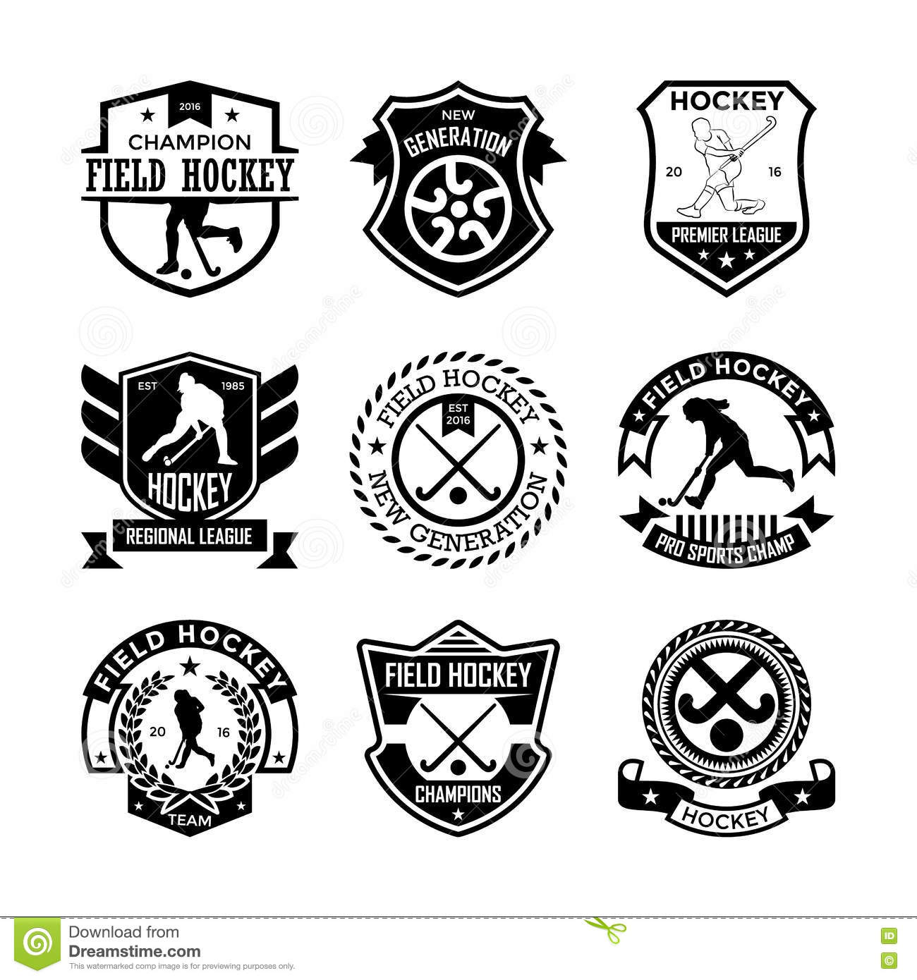 Field hockey vector icons 14 stock illustration illustration of field hockey vector icons 14 biocorpaavc Image collections