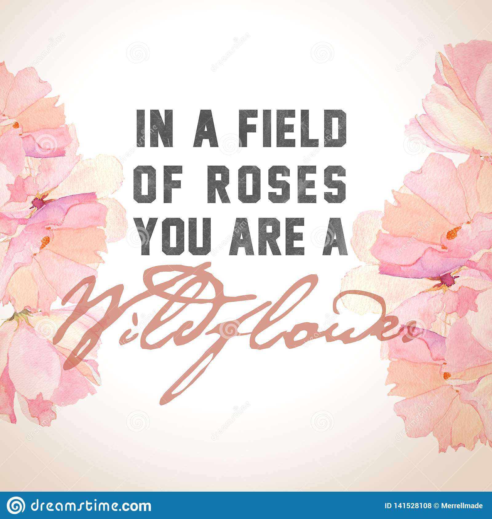 `In a Field of Roses` Print