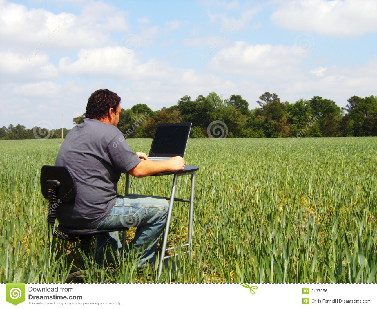 Field Work Royalty Free Stock Image - Image: 2137056
