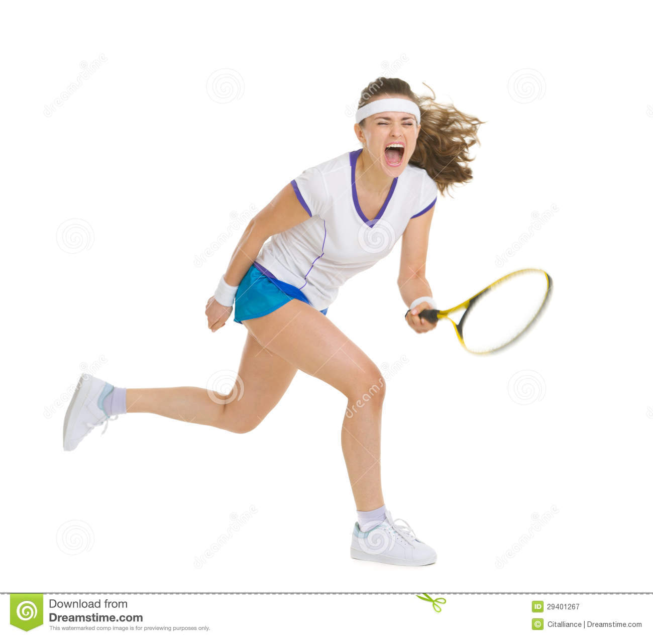 Fierce Tennis Player Hitting Ball Royalty Free Stock Photography ...