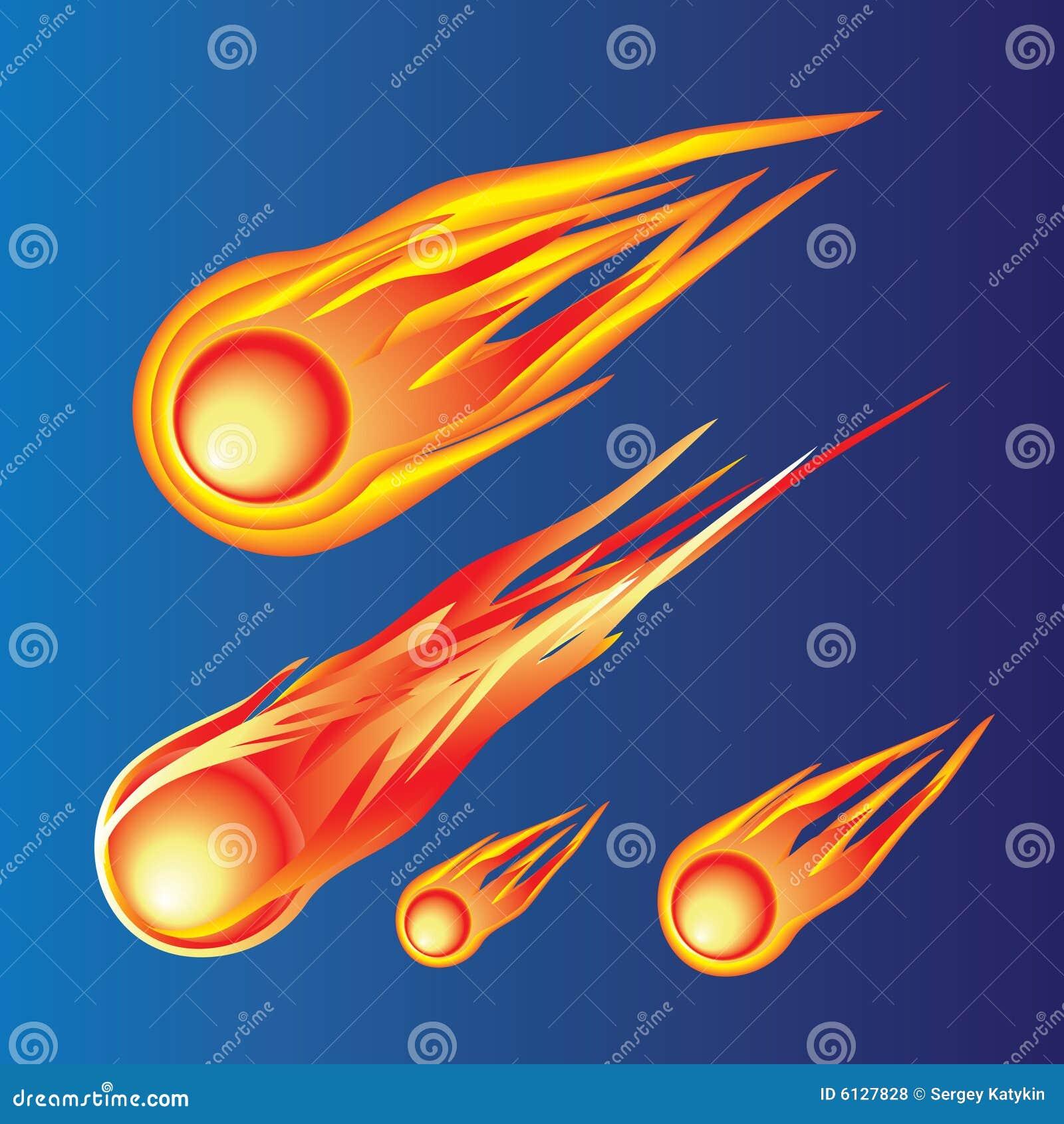 A fiery ball.