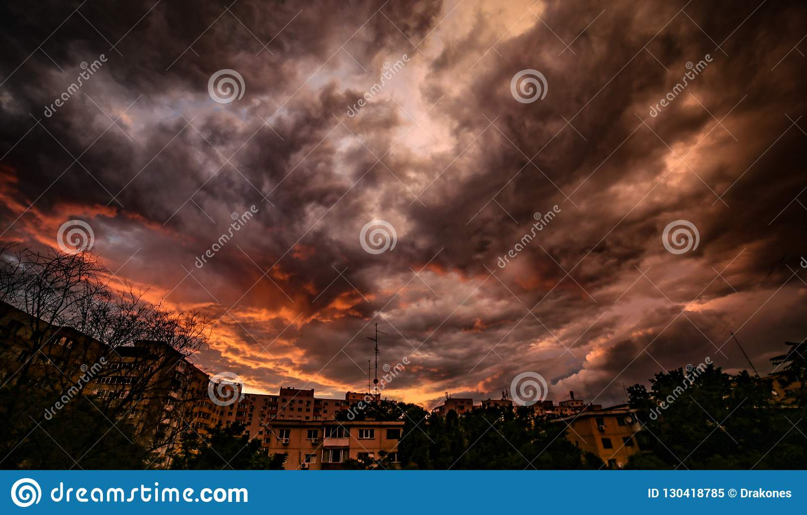 Fiery darkness before the storm