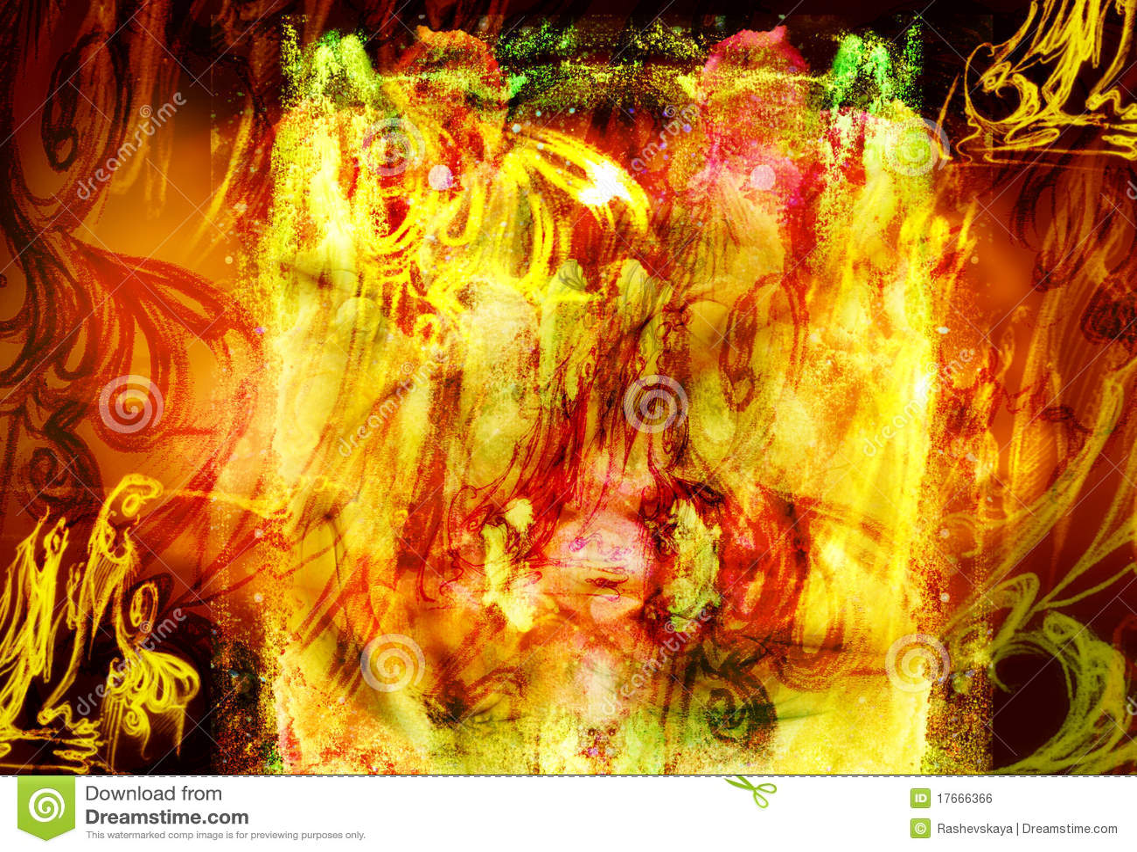 Fiery hellish background