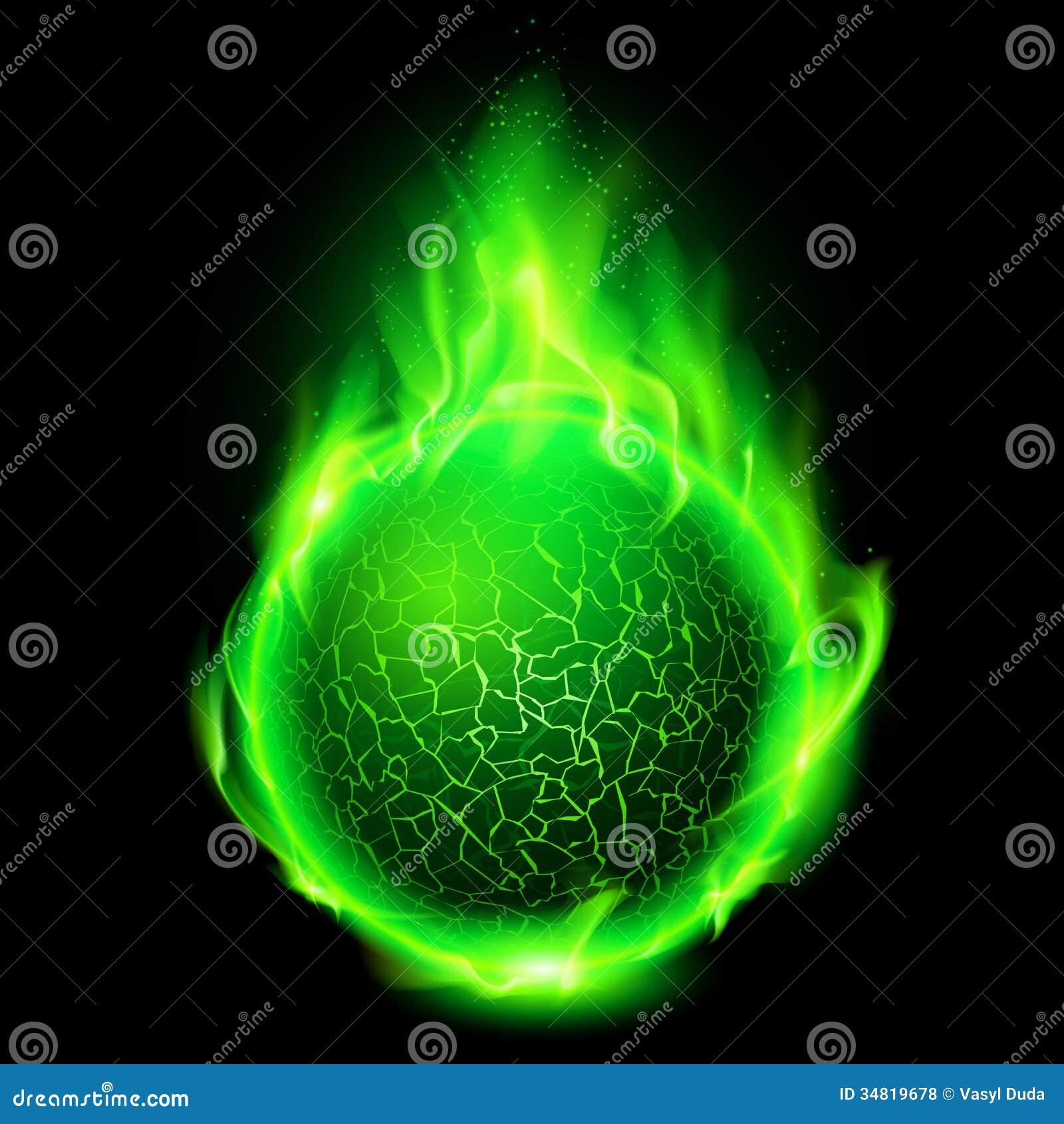 fiery lava ball  royalty free stock photos
