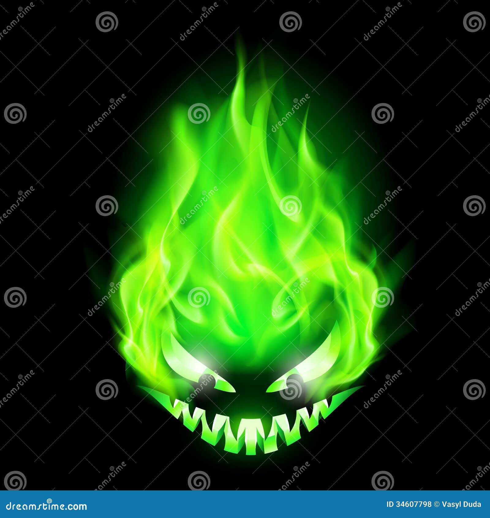 fiery monster head stock vector image of blazing