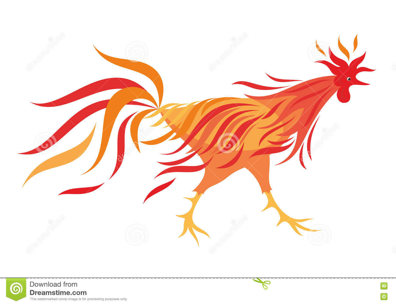 Fiery rooster - a symbol of new 2017 on the Chinese horoscope.