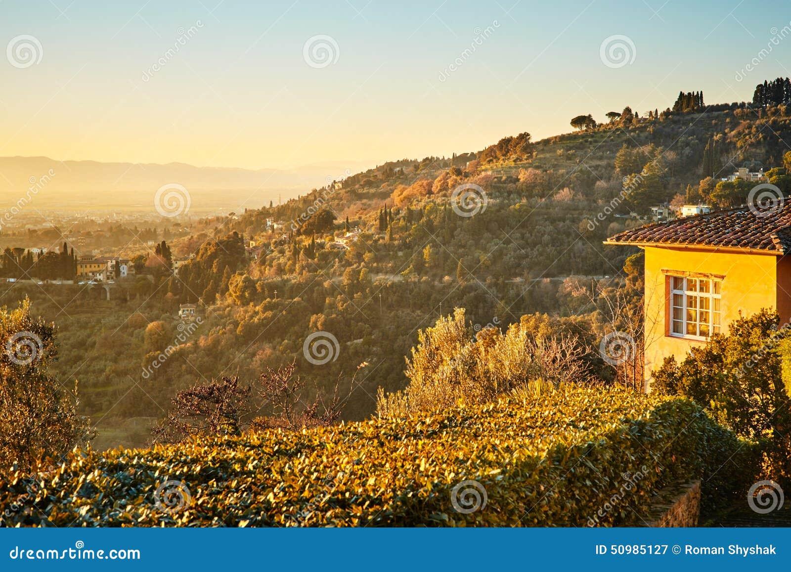 Fiesole dichtbij Florence, Toscanië