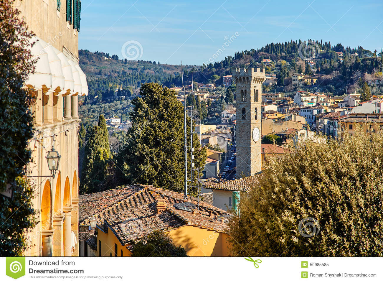 Fiesole near florence tuscany italy stock photo image for Is florence in tuscany