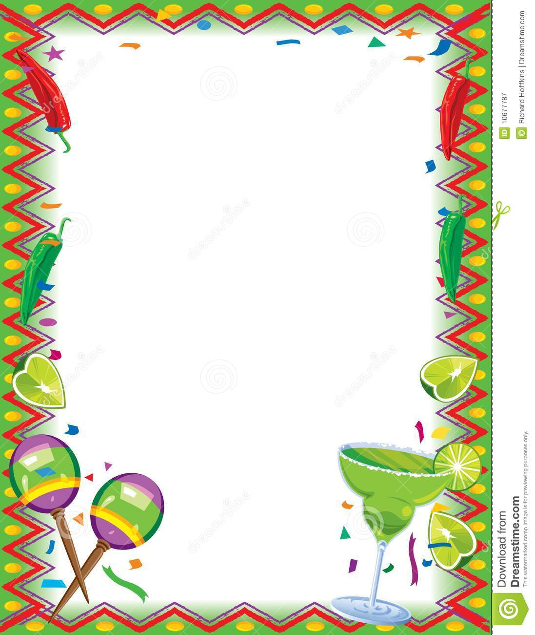 Royalty Free Stock Photography: Fiesta Border. Image: 10677787