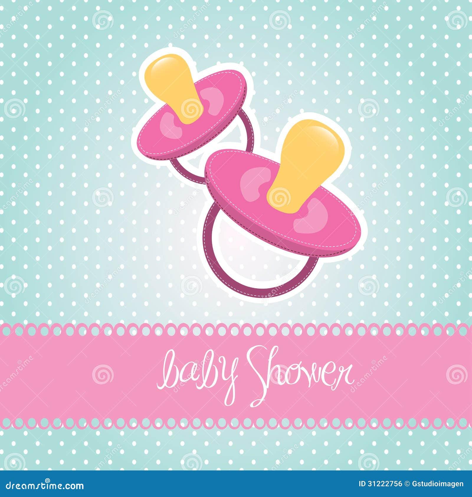 Fiesta De Bienvenida Al Bebé Stock de ilustración - Ilustración de ...