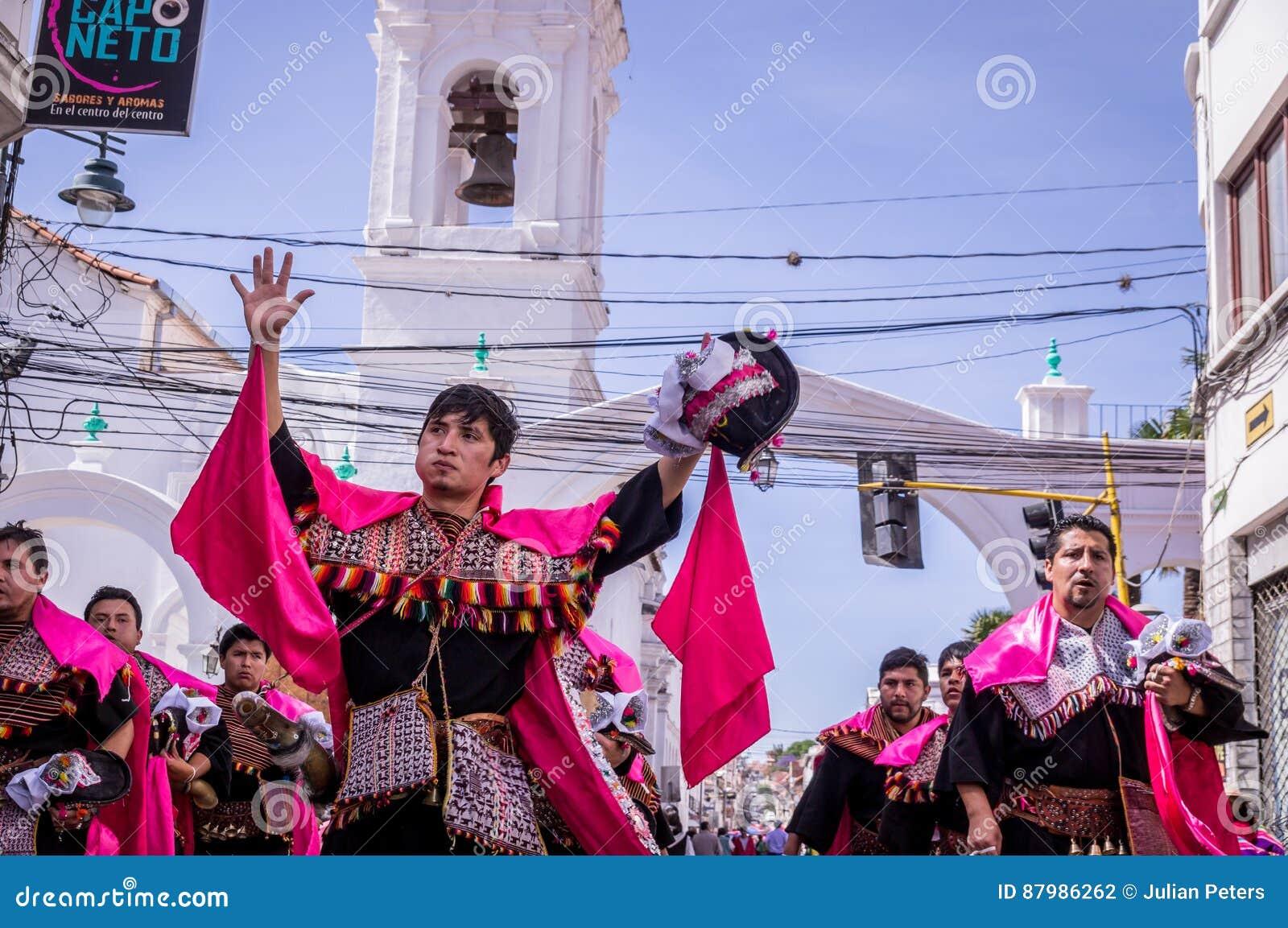 Fiesta De La Virgen Guadalupe En Sucre Fotografía Editorial