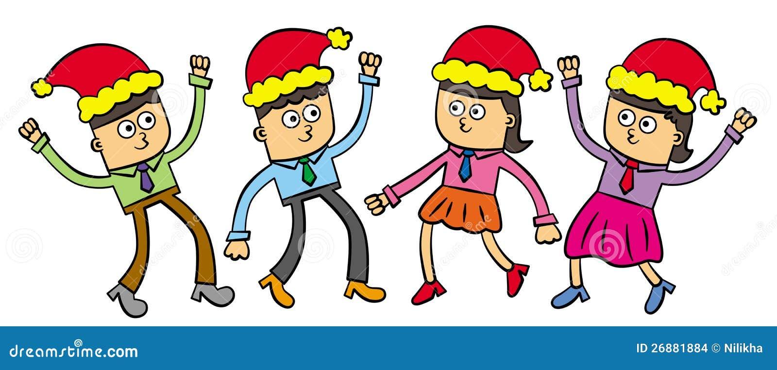 Fiesta de navidad de la oficina stock de ilustraci n for Fiesta en la oficina